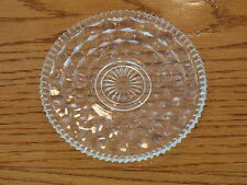 "FOSTORIA AMERICAN Ornamental 6.1/2""plate clear Well firepolished  undamaged 2056"