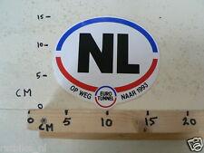 STICKER,DECAL NL EURO TUNNEL OP WEG NAAR 1993
