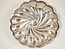 Mid- Century 11''Swirl Tray- Platter by English Silver Mfg. Corp. made in Usa