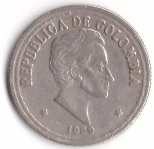20 Centavos 1959 Colombia Coin KM#215.1