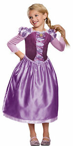 Rapunzel Day Classic Child Girls Costume Puffy Shoulder Accents Fancy Dress