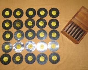 "Thorens Music Storage Box Plus 25 Discs See List Below  AD 30   4.5""   AD30"