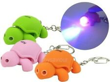 Lovely Turtle Key Chain Ring with LED Light and Animal Sound Child Kid Toy gift