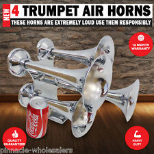 NEW Train Truck horn 12v & 24 volt 4 trumpet air horns Loudest 159db Available
