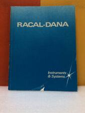 Racal-Dana Instruments & Systems 1988 Catalog