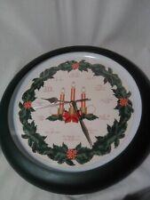 Feldstein Christmas Carol Clock w Light Sensor Plays different Holiday Songs