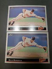 1992 Leaf Baltimore Orioles Baseball Card #184 Billy Ripken Lot of 2