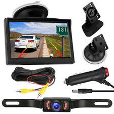 Wide Angle License Plate Car Backup Camera + 5'' Rear View Monitor Reversing Kit
