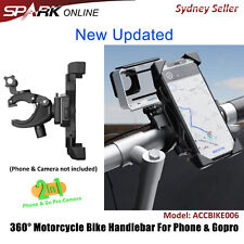 360° Gopro Phone Bike Bicycle Motorcycle Handlebar 2 in 1 Camera Mount Holder CT