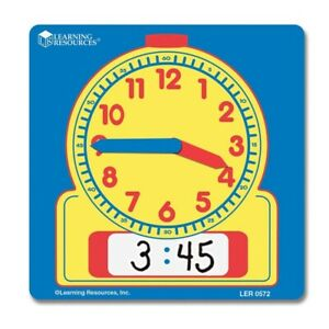 Children's Individual Wipe Clean Clock Learning Time