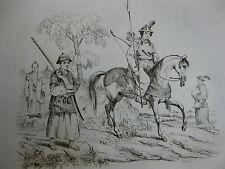 1834 Voyage autour du monde Urville 4 gravures double feuille Japon