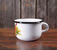 Email Tasse Emaille Kaffee Becher Camping enamel mug Metal 250 ml NEU Klein