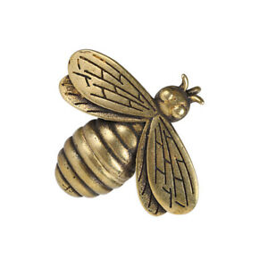 Brass Bee Figurine Small Insect Statue House Ornament Animal Figurines Gift