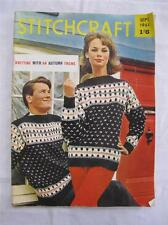 Knitting Pattern Magazine Vintage 1960s Stitchcraft Mens Womens Original 60s