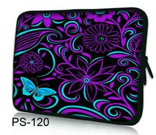 "Purple Blue 16"" 17"" 17.3"" 17.4"" Laptop Soft Neoprene Bag Sleeve Case Pouch Cover"