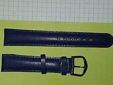 lot 100 bracelets de montre cuir bleu nuit  . Disponible en 18 mm