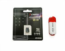 ORIGINALE 16 GB KINGSTON ultimatex MICRO SD HC CLASS 10 + Card Reader, 8GB 32GB