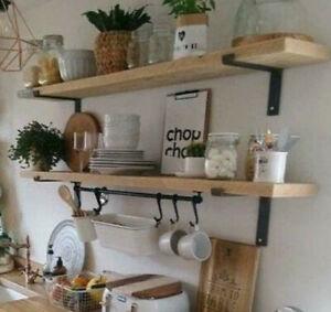 Scaffold Boards Reclaimed Industrial Look Shelf Shelves Industrial Rustic Wood