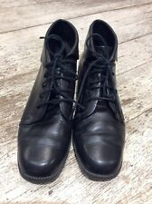 Vintage Cabin Creek Booties Shoes Black Leather Granny Steampunk Women's 6 M