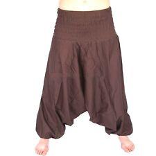 New Ladies Brown Harem Pants Bohemian Boho Hippie Aladdin Yoga Genie Trousers