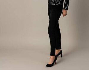 "AB.4462 Designer 5-Pocket Jeans mit Fransensaum ""schwarz"" Gr. 50"