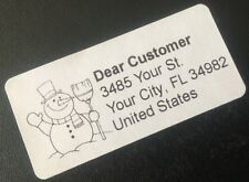 Snowman Address Labels Stickers Shipping Packaging Envelope Seals 50