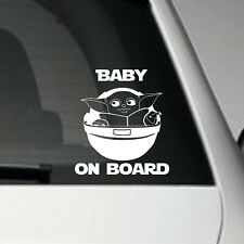 BABY YODA ON BOARD - VINYL CAR ADHESIVE DECAL