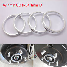 4pcs Car Wheel Hub Centric Spigot Rings 67.1mm OD to 64.1mm ID Aluminium Alloy
