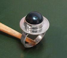 Toller Vintage 835er Modernist Design-SILBERRING m. ONYX • KLS