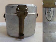 "VTG WWII GERMAN 1941 MATCHING ""GNL 41"" ENGRAVED ART FIELD ALUMINIUM M31 MESS KIT"