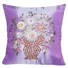 "Faux Silk Silky Floral Throw PILLOW COVER Couch Sofa Bed CUSHION CASE 18x18"" USA"