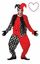 Adult Evil Jester Clown Scary Halloween Fancy Dress Costume