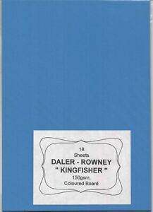 """DALER-ROWNEY - A pack of 18 sheets of """" CANFORD KINGFISHER BOARD """" Assorted."""
