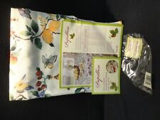 "Benson Mills Spring Butterflies Fabric Tablecloth 70"" Round Diameter Table Cloth"