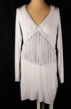 Wrap London NWOT Grey Long Sleeve Dress Top Sz 12