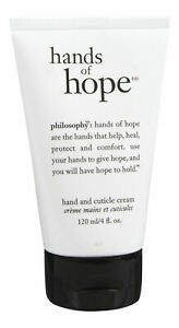 Philosophy Hands of Hope Hand  moisturizer and Cuticle Cream 4 oz. unboxed new