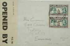 NEW ZEALAND 1940 COVER TO ENGLAND WITH LOOSE LETTER CANCEL & IMPRINT CENSOR
