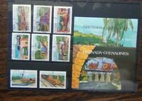 Grenada Grenadines 1984 Railway Locomotives TRAINS set & Miniature Sheet Used