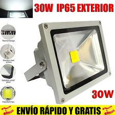 Foco Proyector LED 30W Exterior IP65 Iluminacion Focos Luz blanco Frio 6500K