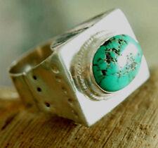 Mächtiger Silberring Türkis 64 Handarbeit Ring Silber Mittelalter Extrem Massiv