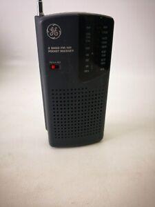 Vintage GE 7-2584A AM/FM Pocket Radio 2 Band Receiver Works Great