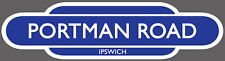 IPSWICH TOWN RAILWAY TOTEM FOOTBALL SIGN. INSIDE OR OUTSIDE USE.PORTMAN ROAD