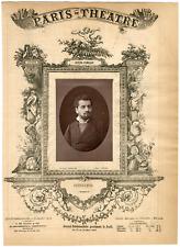 Lemercier, Paris-Théâtre, Théodore Stéphanne, ténor Vintage Albumen Print Tira