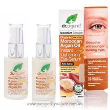 Dr Organic Moroccan Argan Oil Instant Tightening Eye Serum 2 x 30ml