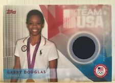 Gabby Douglas 2016 Topps Team USA Jersey Relic Card  Olympic Gold Medal