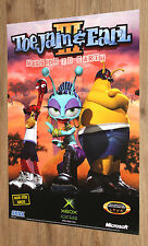 ToeJam & Earl III Mission to Earth very rare Promo Poster 59x42cm Xbox Sega