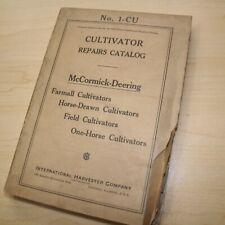 IH MCCORMICK DEERING Cultivator Repair Catalog Manual Book service shop guide