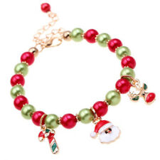 Charm Women Girls Jewelry Santa Claus Reindeer Christmas Gifts Bracelet