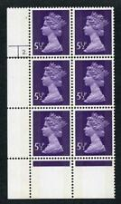 SGX868 1975 5.5p violet 2-B cyl 2 dot P-D and showing the Extra ear ring flaw