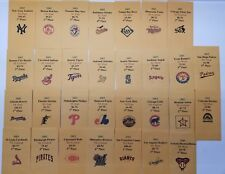 2003 Strat-O-Matic Baseball Printed Storage Envelopes with Stats and Team Logo